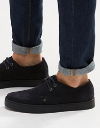 Farah Fame Suede Chukka Shoes Navy