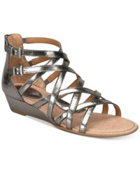 B.O.C. Mimi Wedge Sandals Women's Shoes Pewter