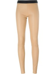 Drome Leather Leggings Brown
