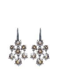Bottega Veneta Cubic Zirconia And Silver Chandelier Earrings Crystal