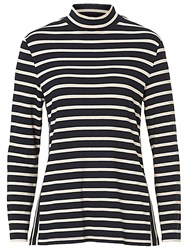 Betty Barclay Striped T Shirt Dark Blue Beige