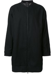 Assin 'Reversible Long Bomber' Jacket Black