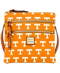 Dooney And Bourke Tennessee Volunteers Ncaa Triple Zip Crossbody Bag Orange