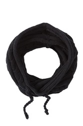 Bickley Mitchell Snood Knit Hooded Scarf Black