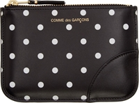 Comme Des Garcons Wallets Black And White Dot Print Coin Pouch
