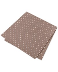 Tommy Hilfiger Men's Hill Dot Pocket Square Khaki