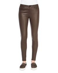 Vince Skinny Leather Pants Women's Saddle