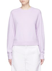 Vince Raglan Sleeve Cashmere Sweater Purple
