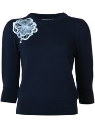Roksanda Ilincic Flower Jumper Blue