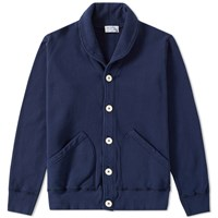 Velva Sheen Shawl Cardigan Blue