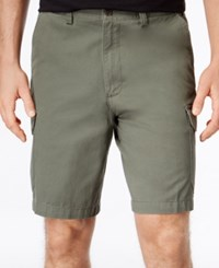 Geoffrey Beene Men's Washed Twill Cargo Shorts Olive