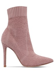 Gianvito Rossi 100Mm Fiona Boucle Knit Boots Blush
