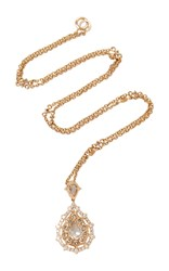 Nam Cho Champagne Diamond Necklace Gold