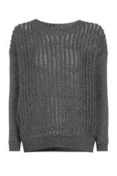 Topshop Metallic Tape Jumper Silver