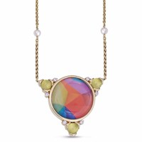Lmj Sprinkle Of Color Necklace Gold Green