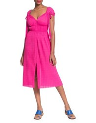 Tracy Reese Pleated Grecian Dress Pink