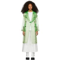 Toga Green Organdy Trench Coat