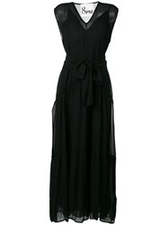 8Pm Belted Maxi Dress Black