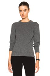 Rosetta Getty Cashmere Merino Crewneck Jumper In Gray