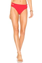 Alexander Wang Fish Line Detail Bikini Bottom Red