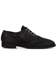 Guidi Contrasting Lace Up Shoes Black