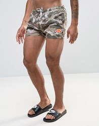 Ellesse Swim Shorts In Camo Green