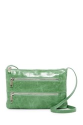 Hobo Mara Leather Zipper Crossbody Green