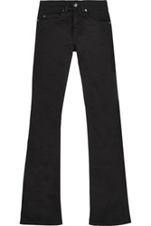 Acne Studios Lita High Rise Cotton Blend Twill Flared Jeans Black