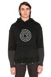 Midnight Studios Hybrid Hooded Sweatshirt Black And White