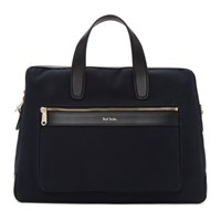 Paul Smith Navy Canvas Folio Briefcase