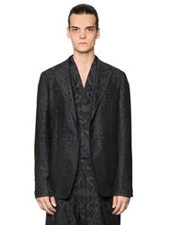 Etro Deconstructed Cotton And Wool Twill Jacket