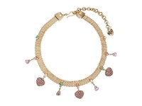 Betsey Johnson Multi Charm Mesh Choker Necklace Multi Necklace