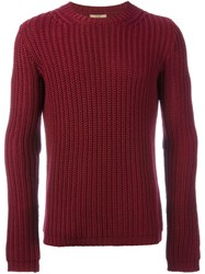 Nuur Ribbed Jumper Pink And Purple