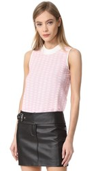 Carven Sleeveless Top Blanc Rose