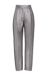 Racil Aries Skinny Tuxedo Trousers In Brocard Metallic