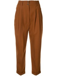 Nehera Cropped Trousers Brown
