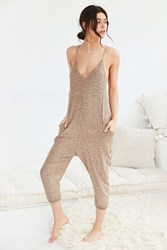 Out From Under Coolin' It Jumpsuit Taupe
