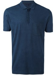 Lanvin Slim Pocket Polo Shirt Blue