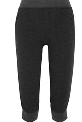 Atm Anthony Thomas Melillo Cropped French Cotton Blend Terry Track Pants Charcoal