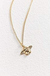 Vintage Fallen Angel Charm Necklace Gold