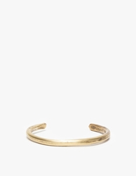 Cause And Effect Thin Brass Bar Cuff