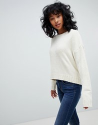 39dccbc7d Save. Pull And Bear Chenille Sweater In Cream Cream
