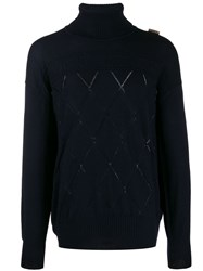 Versace Collection Relaxed Jumper Blue
