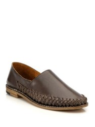 Maison Martin Margiela Braided Leather Loafers Graphite