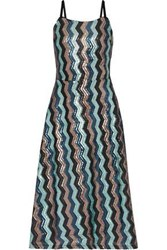 W118 By Walter Baker Woman Isodora Velvet Trimmed Sequined Tulle Midi Dress Multicolor