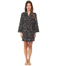 Kate Spade Flannel Robe Good Morning Gorgeous Women's Robe Black