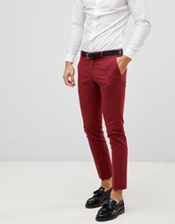Selected Homme Red Suit Trouser In Skinny Fit Red Dahlia