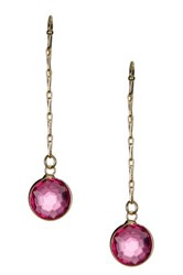 Sapanyu Raspberry Quartz Suspended Stones Dangle Earrings Pink