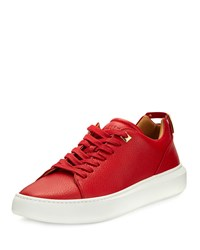 Buscemi 50Mm Leather Low Top Sneakers Red