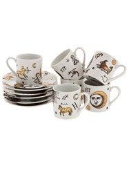 Fornasetti China Plate And Mug Set White